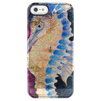 Capa Para iPhone SE/5/5s Transparente Mapa velho do cavalo marinho