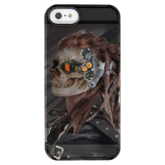 Capa Para iPhone SE/5/5s Transparente menina do crânio
