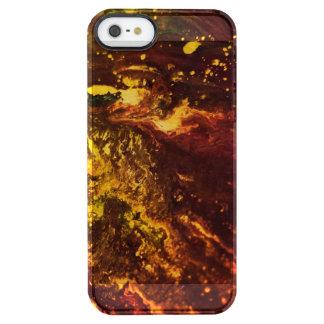 Capa Para iPhone SE/5/5s Transparente Mundo vulcânico