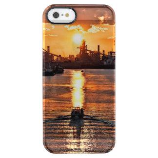 Capa Para iPhone SE/5/5s Transparente Navio do por do sol