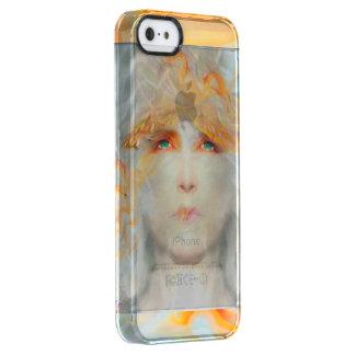 Capa Para iPhone SE/5/5s Transparente O respingo da cor compo a fantasia da arte