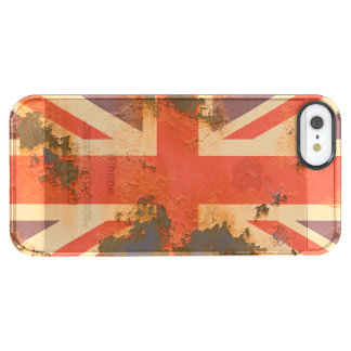 Capa Para iPhone SE/5/5s Transparente O vintage oxidou bandeira de Reino Unido
