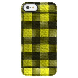 Capa Para iPhone SE/5/5s Transparente Olhar Checkered de serapilheira do teste padrão do