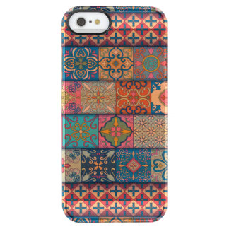 Capa Para iPhone SE/5/5s Transparente Ornamento de talavera do mosaico do vintage