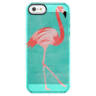 Capa Para iPhone SE/5/5s Transparente Pássaro do flamingo