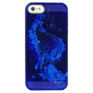 Capa Para iPhone SE/5/5s Transparente Pintura azul do cavalo marinho