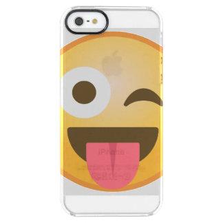 Capa Para iPhone SE/5/5s Transparente Pisc a língua Emoji