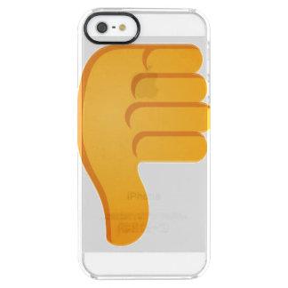 Capa Para iPhone SE/5/5s Transparente Polegares para baixo Emoji