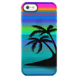 Capa Para iPhone SE/5/5s Transparente Por do sol tropical da ilha