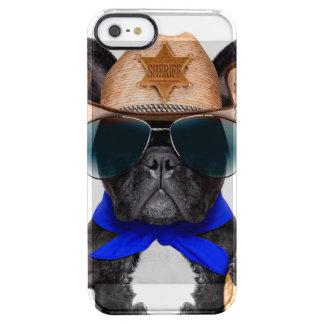 Capa Para iPhone SE/5/5s Transparente pug do vaqueiro - vaqueiro do cão