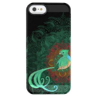 Capa Para iPhone SE/5/5s Transparente Quetzal encaracolado