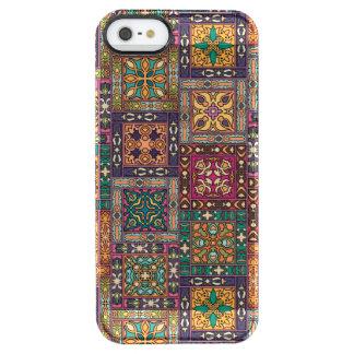 Capa Para iPhone SE/5/5s Transparente Retalhos do vintage com elementos florais da