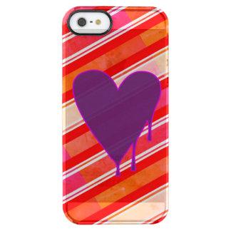 Capa Para iPhone SE/5/5s Transparente Roxo de derretimento do coração