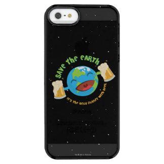 Capa Para iPhone SE/5/5s Transparente Salvar a terra