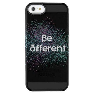 Capa Para iPhone SE/5/5s Transparente Seja diferente