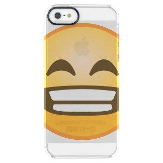 Capa Para iPhone SE/5/5s Transparente Sorrindo Emoji