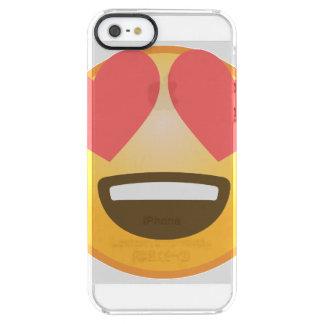 Capa Para iPhone SE/5/5s Transparente Sorriso Loving Emoji