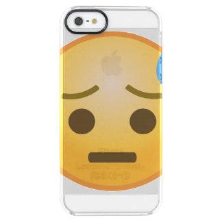 Capa Para iPhone SE/5/5s Transparente Suando Emoji