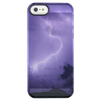 Capa Para iPhone SE/5/5s Transparente Temporal roxo na noite