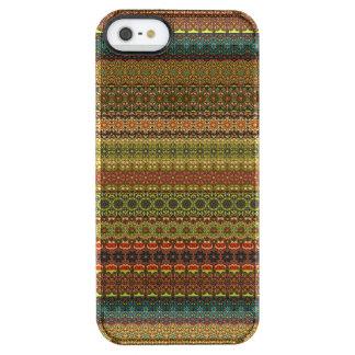 Capa Para iPhone SE/5/5s Transparente Teste padrão asteca tribal do vintage