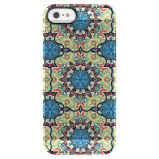 Capa Para iPhone SE/5/5s Transparente Teste padrão floral étnico abstrato colorido de da