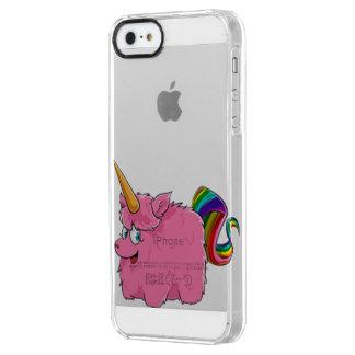 Capa Para iPhone SE/5/5s Transparente Unicórnio pequeno bonito