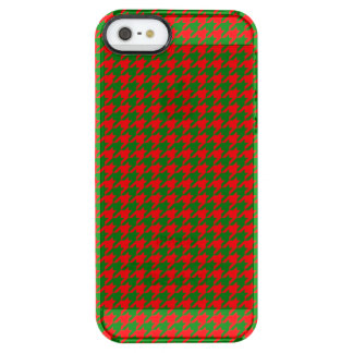 Capa Para iPhone SE/5/5s Transparente Verificação vermelha e verde do Natal clássico de
