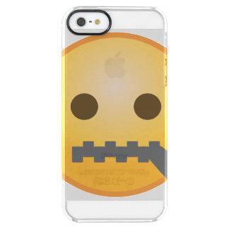 Capa Para iPhone SE/5/5s Transparente Zipper Emoji