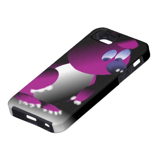 Capa para iPhone SE com estampa de urso roxo