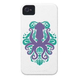 Capa Para iPhone Ultravioleta do calamar do damasco no Arcadia