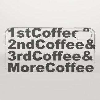 Capa Para iPhone X 1stCoffee&2ndCoffee&3rdCoffee&MoreCoffee! (preto)
