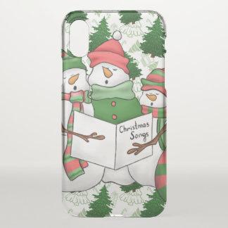 Capa Para iPhone X 3 Carolers do boneco de neve