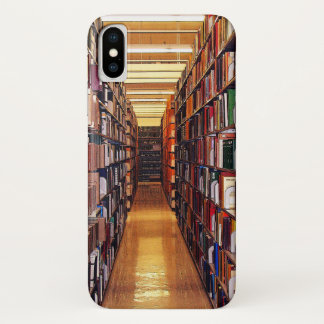 Capa Para iPhone X A biblioteca registra o caso do iPhone X