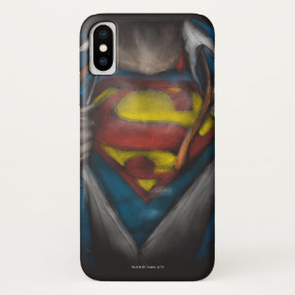 Capa Para iPhone X A caixa do superman | revela o esboço Colorized