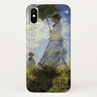 Capa Para iPhone X A caminhada, senhora com um parasol