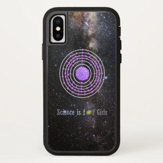 Capa Para iPhone X A ciência do átomo da platina é para meninas
