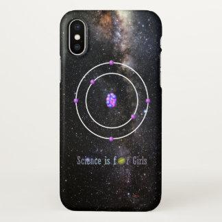 Capa Para iPhone X A ciência do átomo de carbono é para meninas