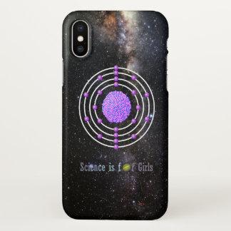 Capa Para iPhone X A ciência Titanium do átomo é para meninas