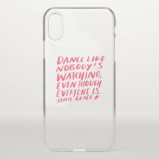Capa Para iPhone X a dança gosta de ninguém que olha, mesmo que todos