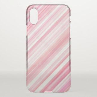 Capa Para iPhone X A linha aguarelas do rosa da arte