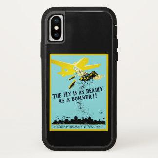 Capa Para iPhone X A mosca é tão mortal quanto um bombardeiro