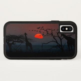 Capa Para iPhone X A noite escura da lua do girafa stars animais