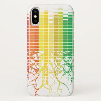 Capa Para iPhone X A onda sadia colorida com raizes desvanece-se