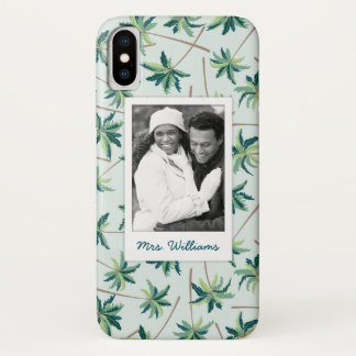 Capa Para iPhone X A palma tropical | do Foxtail adiciona sua foto &