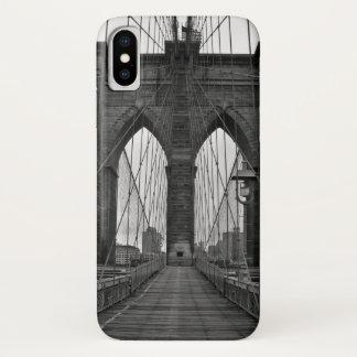 Capa Para iPhone X A ponte de Brooklyn na Nova Iorque