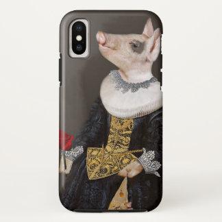 Capa Para iPhone X A rainha de Bling - caso do iphoneX do leitão