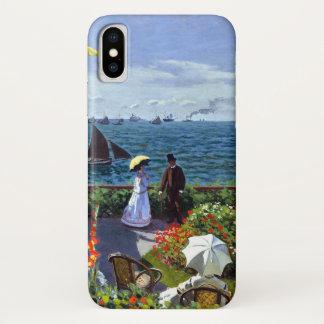 Capa Para iPhone X À Sainte-Adresse de Jardin por Claude Monet