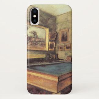 Capa Para iPhone X A sala de bilhar em Menil Hubert por Edgar Degas