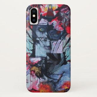 Capa Para iPhone X A solidão está a arte da colagem do gótico da
