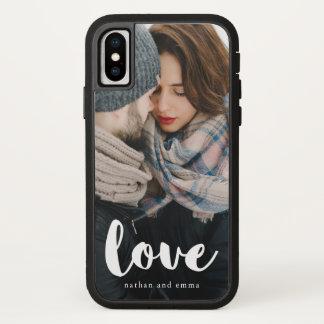 Capa Para iPhone X A tipografia na moda do amor com adiciona a foto e